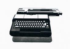 Línea gráficos de la máquina de escribir Imágenes de archivo libres de regalías