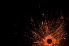 Línea hermosa estilo del azul del color claro La Navidad y el Año Nuevo van de fiesta estilo ardiente del círculo de la bengala Foto de archivo libre de regalías