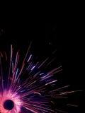 Línea hermosa estilo del azul del color claro La Navidad y el Año Nuevo van de fiesta estilo ardiente del círculo de la bengala Fotos de archivo