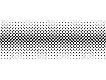 Línea horizontal bilinearia de semitono negra de la pendiente de puntos en el arreglo diagonal en el fondo blanco Extracto retro Fotos de archivo