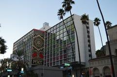 Línea hotel Los Ángeles con la bandera de la paz Fotografía de archivo libre de regalías