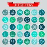 30 línea icono libre illustration