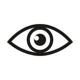 Línea icono de la exploración de la retina del ojo o del examen de la vista de la optometría del arte para los apps y los sitios  libre illustration