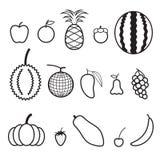 Línea icono de la fruta Imagenes de archivo