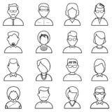 Línea icono de la gente Imagen de archivo libre de regalías