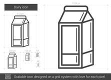 Línea icono de la lechería ilustración del vector
