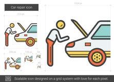 Línea icono de la reparación del coche Fotografía de archivo