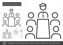 Línea icono de la reunión de negocios libre illustration