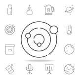 Línea icono de la Sistema Solar Sistema detallado de iconos y de muestras del web Diseño gráfico superior Uno de los iconos de la libre illustration