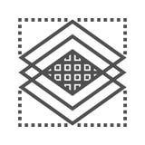 Línea icono de las capas libre illustration