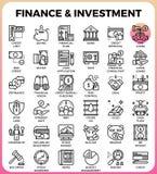 Línea icono del concepto de las finanzas y de la inversión ilustración del vector