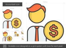 Línea icono del contable ilustración del vector