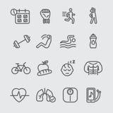 Línea icono del ejercicio ilustración del vector