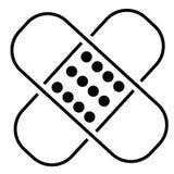 Línea icono del emplasto adhesivo Imagenes de archivo
