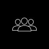 Línea icono del equipo stock de ilustración