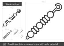 Línea icono del kebab ilustración del vector