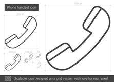 Línea icono del microteléfono del teléfono libre illustration