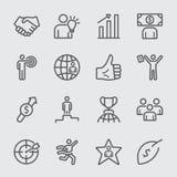 Línea icono del negocio y del éxito stock de ilustración