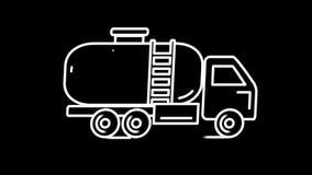 Línea icono del petrolero de Gasolin en Alpha Channel