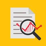 Línea icono del vector del análisis Foto de archivo libre de regalías