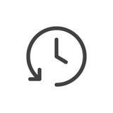 Línea icono simple de la historia ilustración del vector