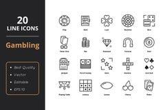 Línea iconos de 20 juegos Imágenes de archivo libres de regalías