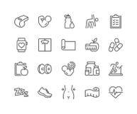 Línea iconos de la aptitud ilustración del vector