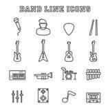 Línea iconos de la banda Imagenes de archivo