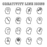 Línea iconos de la creatividad Imágenes de archivo libres de regalías