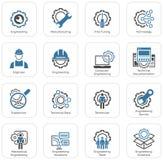 Línea iconos de la ingeniería Imágenes de archivo libres de regalías