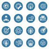 Línea iconos de la ingeniería Imagen de archivo libre de regalías