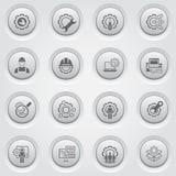 Línea iconos de la ingeniería Foto de archivo libre de regalías