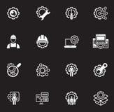 Línea iconos de la ingeniería Foto de archivo