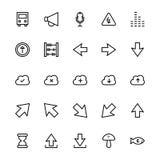 Línea iconos 35 de la interfaz de usuario del vector stock de ilustración
