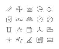 Línea iconos de la medida ilustración del vector
