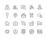Línea iconos de la navegación ilustración del vector