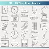 Línea iconos de la oficina Imagen de archivo
