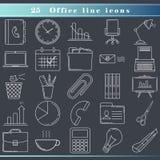 Línea iconos de la oficina Imagenes de archivo