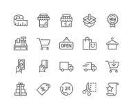 Línea iconos de las compras ilustración del vector