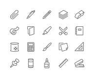 Línea iconos de los efectos de escritorio stock de ilustración