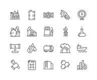 Línea iconos del aceite