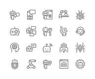 Línea iconos del Bot Fotografía de archivo