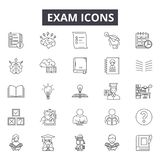 Línea iconos del examen para la web y el diseño móvil Muestras Editable del movimiento Ejemplos del concepto del esquema del exam libre illustration