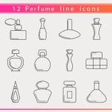 Línea iconos del perfume Imagen de archivo libre de regalías