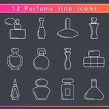 Línea iconos del perfume Fotografía de archivo