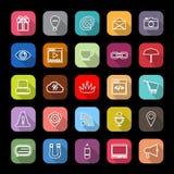 Línea iconos del sitio web de Internet con la sombra larga libre illustration