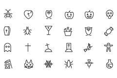 Línea iconos 2 del vector de Halloween Imagen de archivo