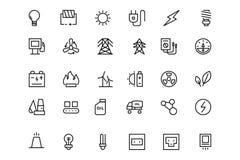 Línea iconos 1 del vector de la energía Fotos de archivo