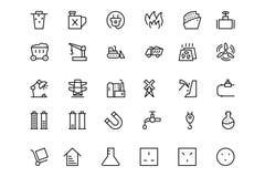 Línea iconos 5 del vector de la energía Fotos de archivo libres de regalías