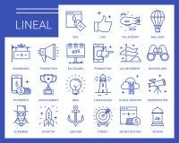 Línea iconos del vector en un estilo moderno Imágenes de archivo libres de regalías